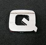 Emblemat / naklejka - chrom litera ''Q'' uniwersalny