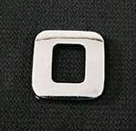 Emblemat / naklejka - chrom litera ''O'' uniwersalny
