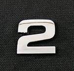 Emblemat / naklejka - chrom cyfra ''2'' uniwersalny