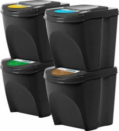 Kosz na śmieci Noveen do segregacji czarny