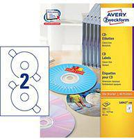 Avery Zweckform Etykiety na CD 117mm 100 arkuszy (L6043-100)