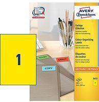 Avery Zweckform Etykiety uniwersalne, żółte 210x297mm 100 arkuszy (3473)