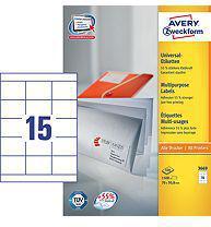 Avery Zweckform Etykiety Uniwersalne, Białe 70x50.8mm 100 arkuszy (3669)