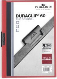 Durable Skoroszyt Zaciskowy A4 / 60 kartek Czerwony