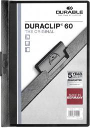 Durable Skoroszyt Zaciskowy A4 / 60 kartek Czarny