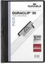 Durable Skoroszyt Zaciskowy A4 / 30 kartek Czarny