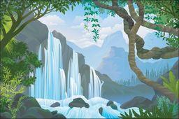 AC Fototapeta Wodospad w Dżungli flizelina 130g 90x60