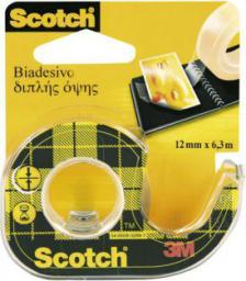 Scotch Taśma klejąca dwustronna 12mm 6.3m na podajniku (SC5006)