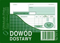 Michalczyk & Prokop Dowód dostawy A6 80 kartek samokopiujący (315-5)