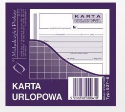 Michalczyk & Prokop Karta urlopowa 2/3 A6 40kartek (507-6)