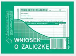 Michalczyk & Prokop Wniosek o zaliczkę A6 40 kartek (408-5)