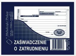 Michalczyk & Prokop Zaświadczenie o zatrudnieniu A6 80 kartek (502-5)
