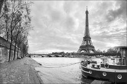 AC Fototapeta Paryż Czarno-Biała flizelina 130g 90x60