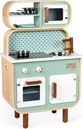 Janod Dwustronna drewniana kuchnia z pralką 2w1 z dźwiękiem,światłem LED i 8 akcesoriami