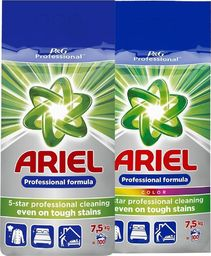 Ariel Zestaw ARIEL Proszek do prania Regular 7,5kg + ARIEL Proszek do prania Kolor 7,5kg