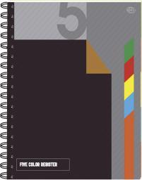 Blok biurowy Interdruk Kołonotatnik w kratkę A4 z kolorowymi registrami 100 kartek