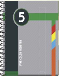 Blok biurowy Interdruk Kołonotatnik w kratkę A5 z kolorowymi registrami 100 kartek