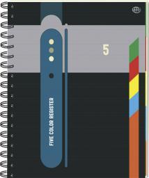 Blok biurowy Interdruk Kołonotatnik w kratkę B5 z kolorowymi registrami 100 kartek