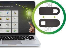InLine Zakrywacz InLine do kamery internetowej w laptopie - czarny - 2 sztuki