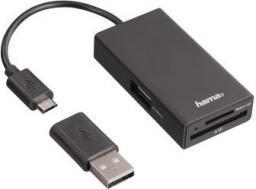 HUB USB Hama 1-portowy OTG + Czytnik kart pamięci (000541410000)