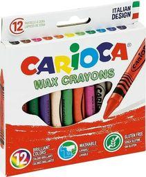 Carioca Kredki świecowe 12 kolorów (386436)