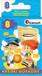 Titanum Kredki świecowe 8 kolorów (385031)