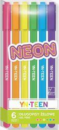 Interdruk Długopis żelowy 6 kolorów Neon YN TEEN