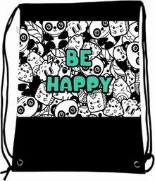 Mesio.pl Worek szkolny plecak WR1043 Be happy MESIO