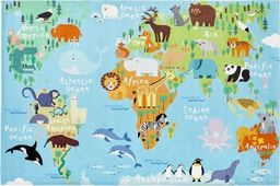 Obsession 24H | Torino Kids - World Map - dywan 80 x 120 cm