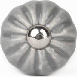 Knaufmanufaktur KWIATEK RETRO SZARY - ceramiczna gałka do mebli
