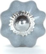 Knaufmanufaktur KWIATEK SZARY (mały) - ceramiczna gałka do mebli