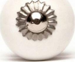 Knaufmanufaktur BIAŁA GŁADKA (mała) - ceramiczna gałka do mebli