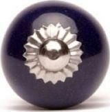 Knaufmanufaktur GRANATOWA GŁADKA (mała) - ceramiczna gałka do mebli