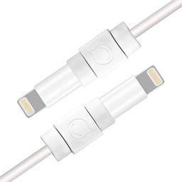 Kabel USB Ugreen Ugreen 6X Osłona Zabezpieczenie Oryginalnego Kabla Lightning Biały (40705)