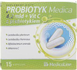 Aliness Medica Probiotyk 4,2 mld + Witamina C z prebiotykiem - 15 kapsułek - WYSYŁKA W CIĄGU 24H -
