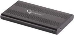 Kieszeń Gembird na dysk USB 2.0  HDD 2.5'' SATA, aluminiowa, czarna (EE2-U2S-5)