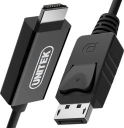 Kabel Unitek DisplayPort HDMI, 1.8m, Czarny (Y-5118CA BOX)