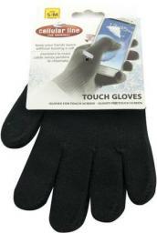 Cellular Line Rękawiczki umożliwiające dotykową obsługę wyświetlaczy smartfonów CTOUCHGLOVESSMBK