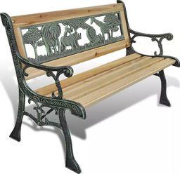 Elior Drewniana ławka ogrodowa dla dzieci Ponter - brązowa