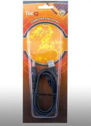 Kabel USB TreQ 2x USB Y - Mini USB, 1m (TQC441Y)