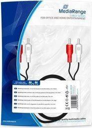 Kabel MediaRange RCA (Cinch) x2 - RCA (Cinch) x2 2.5m czarny (MRCS128)