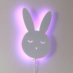 MT3CH Lampka kinkiet królik bezprzewodowa pilot kolory RGB LED