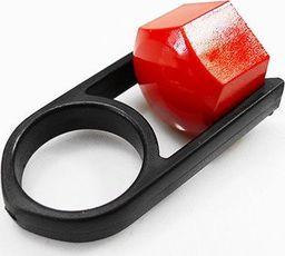 Nakładki na śruby czerwone fi 19mm, 20szt + kluczyk uniwersalny