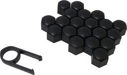 Nakładki na śruby czarne fi 17mm, 20szt + kluczyk uniwersalny
