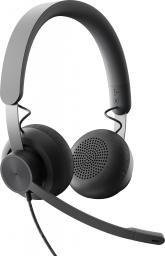 Słuchawki z mikrofonem Logitech Zone Wired MSTeams (981-000875)