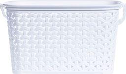 PEPCO PEPCO - Koszyk na klamerki plastik RATTAN biały