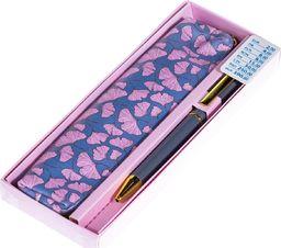 Pepco PEPCO - zestaw długopis z etui różowym
