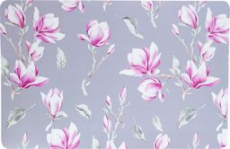 PEPCO PEPCO - Komplet 4 mat stołowych Szary z rózowe magnolia