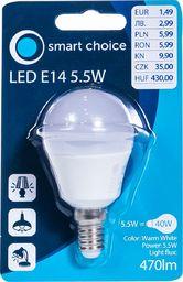 Pepco PEPCO - Żarówka LED E14 6W kula (ciepły biały)