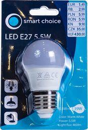 Pepco PEPCO - Żarówka LED E27 5.5W kula (ciepły biały)